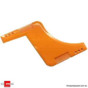 Beard Grooming Shaping Styling Comb Guide Shaper for Shaving Symmetric Beards - Orange