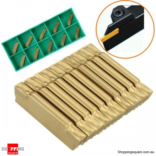 10pcs MGMN200-G 2mm Carbide Inserts for MGEHR/ MGIVR Grooving Cut Off Turning Tool with Case