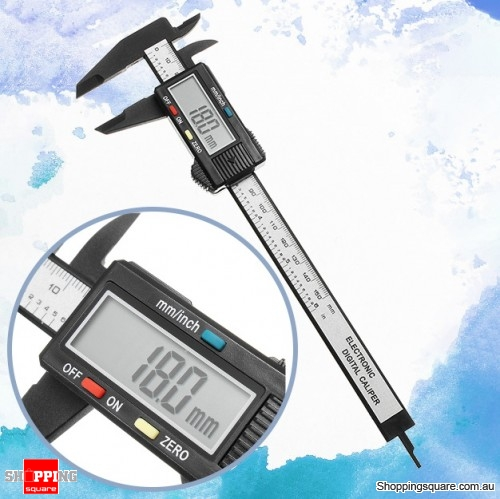 "150mm 6"" LCD Digital Electronic Vernier Caliper Gauge Micrometer Measuring Tool Caliper Ruler"
