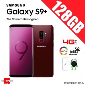 Samsung Galaxy S9 Plus 128GB Dual Sim 4G LTE Unlocked Smart Phone Burgundy Red