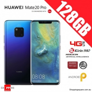 Huawei Mate 20 Pro 128GB LYA-L29 Dual Sim 4G LTE Unlocked Smart Phone Twilight