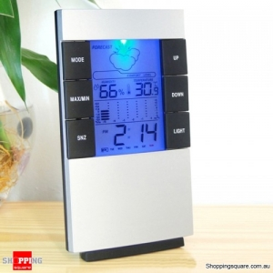 LCD Digital Thermometer Hygrometer Electronic Temperature Humidity Meter Clock Weather Station