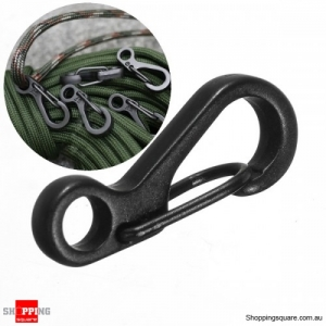 EDC Tool Zinc Alloy Spring Hook Carabiner Buckle Keychain Snap Clip - Black
