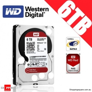 Western Digital WD Red NAS 6TB 3.5-inch Hard Drive Disk