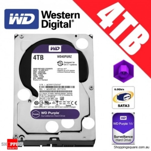 Western Digital Purple 4TB 3.5-inch SATA 6GB/s Surveillance Hard Drive Disk