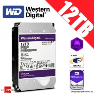 Western Digital Purple 12TB 3.5-inch SATA 6GB/s Surveillance Hard Drive Disk