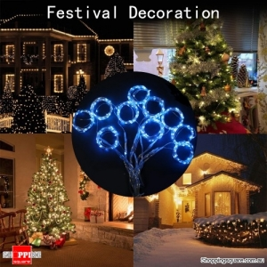 3Mx3M 300LED USB Powered 8-Mode Remote Control Curtain Fairy String Holiday Light - Multi color