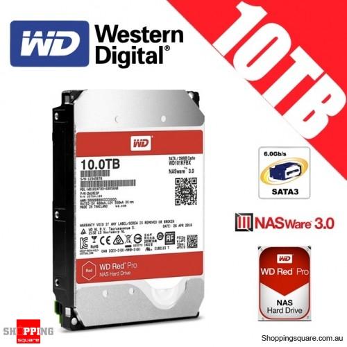 Western Digital Red PRO 10TB 3.5-inch 7200 RPM SATA 6Gb/s NAS Hard Drive Disk