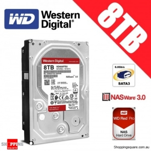 Western Digital Red PRO 8TB 3.5-inch 7200 RPM SATA 6Gb/s NAS Hard Drive Disk