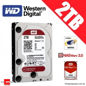 Western Digital Red PRO 2TB 3.5-inch 7200 RPM SATA 6Gb/s NAS Hard Drive Disk