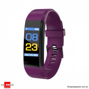 B05 0.96'' OLED Color Screen Smart Watch Waterproof Blood Pressure Monitor Smart Bracelet - Blue