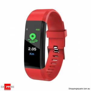 B05 0.96'' OLED Color Screen Smart Watch Waterproof Blood Pressure Monitor Smart Bracelet - Red