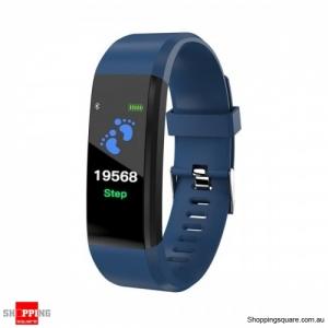 B05 0.96'' OLED Color Screen Smart Watch Waterproof Blood Pressure Monitor Smart Bracelet - Blue