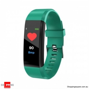 0.96'' OLED Color Screen Smart Watch Waterproof Blood Pressure Monitor Smart Bracelet - Green