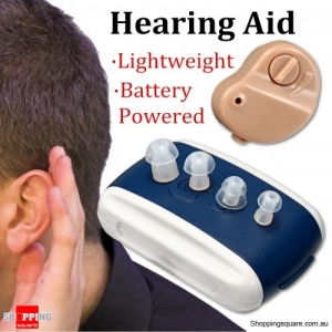 Adjustable Mini In-Ear Digital Hearing Aids  Best Sound Voice Amplifier Invisible with case