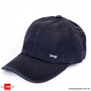 Unisex Adjustable Washed Cotton Blend baseball Cap Sports Hat Outdoor - Black