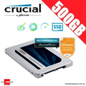 "Crucial MX500 500GB SATA 2.5"" 7mm (with 9.5mm adapter) Internal SSD Solid State Drive (CT500MX500SSD1)"