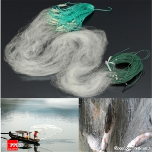 30M x 1.2M Fishing Fish Trap Monofilament Gill Single Net Nylon Silk Nets