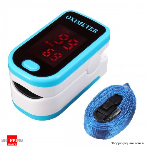 Portable Finger Tip Pulse Oximeter Blood Oxygen Meter SpO2 Heart Rate  Monitor Blue Colour - Shoppingsquare Australia