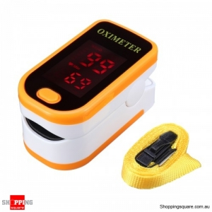 Portable Finger Tip Pulse Oximeter Blood Oxygen Meter SpO2 Heart Rate Monitor Orange Colour