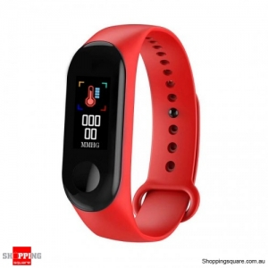 0.96'' TFT Waterproof Smart Bracelet Smart Watch - Red