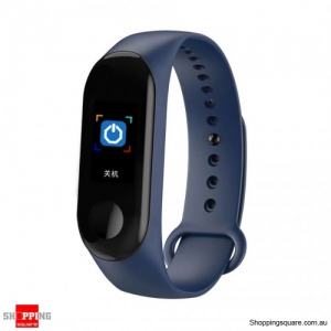 0.96'' TFT Waterproof Smart Bracelet Smart Watch - Blue