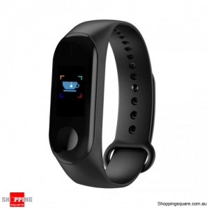 0.96'' TFT Waterproof Smart Bracelet Smart Watch - Black