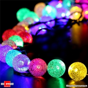 Solar Powered 50 LED 7M String Light Party Outdoor Patio Garden Decorative Lamp - Multi Color