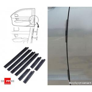 8pcs Universal Car Scratch Strip Protectors Door Edge Protection Guards Trim Molding - Black