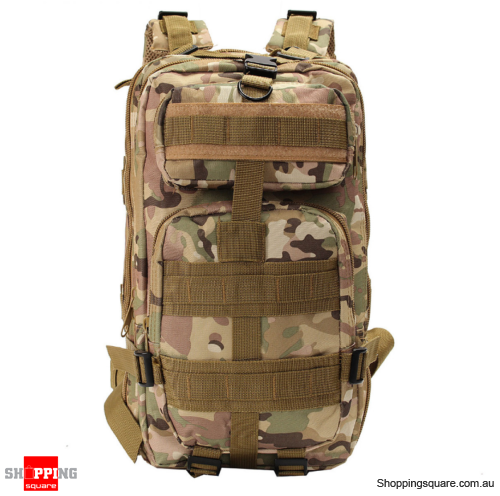 30L Waterproof 600D Outdoor Tactical Backpack Nylon Camouflage - CP