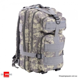 30L Waterproof 600D Outdoor Tactical Backpack Nylon Camouflage - ACU