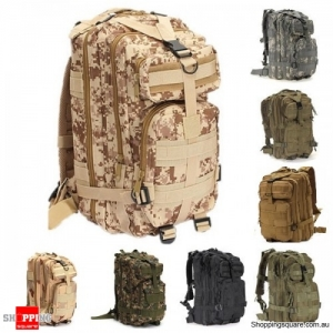 30L Waterproof 600D Outdoor Tactical Backpack Nylon Camouflage - Desert camo Jungle