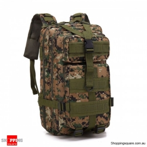 30L Waterproof 600D Outdoor Tactical Backpack Nylon Camouflage - Digital Jungle