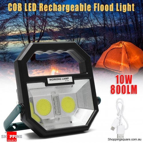 Rechargeable Lightweight 800LM COB LED USB Flood Work Light Spot Lamp Outdoor Camping Tent Lantern