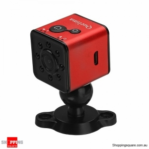 Mini Full HD 1080P Car DVR DV Night Vision 8IR light Camera - Red