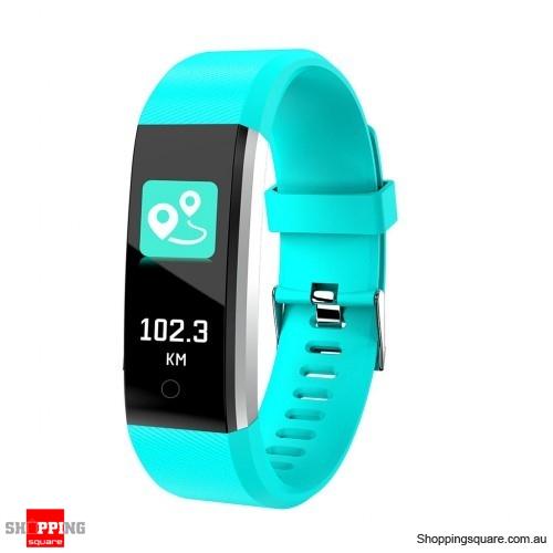 ID115 PLUS 2 Color UI Display Smart Watch Blood Pressure Oxygen Monitor Sport Tracker Watch -Green