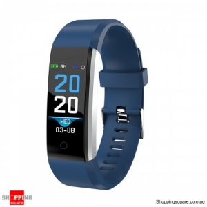 ID115 PLUS 2 Color UI Display Smart Watch Blood Pressure Oxygen Monitor Sport Tracker Watch -Blue