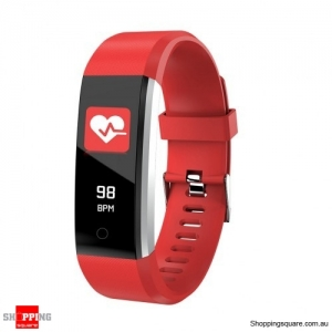 ID115 PLUS 2 Color UI Display Smart Watch Blood Pressure Oxygen Monitor Sport Tracker Watch -Red