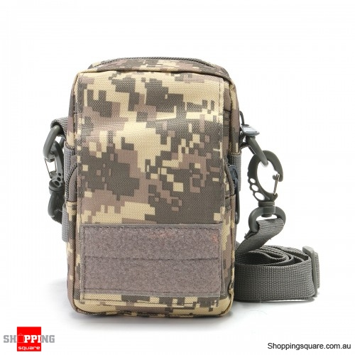 Outdoor Tactical Molle Pouch Utility Sports Oxford Waist Bag Cell Phone Holder Case - ACU