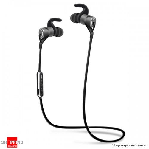 Waterproof Magnetic In-ear Sport Absorption Voice Prompt Bluetooth V4.1 Earphone - Gray