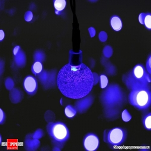 Solar Powered 50 LED 7M String Light Party Outdoor Patio Garden Decorative Lamp - Blue