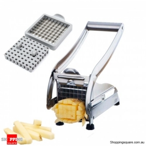 Stainless Steel French Fries Potato Cutter Machine Chopper with 2 Blades