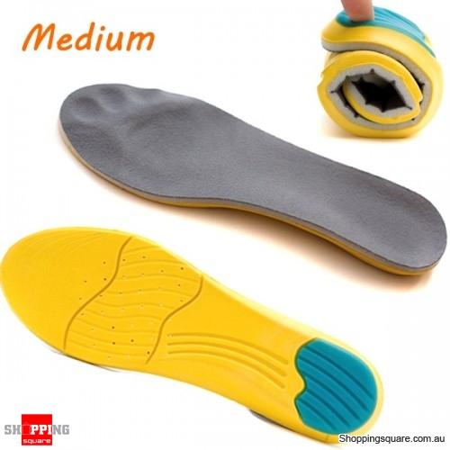 Memory Foam Breathable Orthotic Arch Shoe Insoles Sport Insert Heel Cushion Squishy Pad - Medium