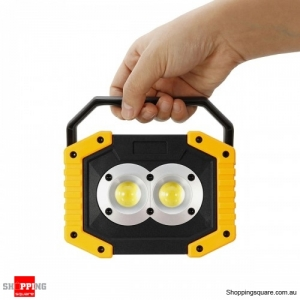 Rechargeable Waterproof 800LM LED COB Work Light USB  Emergency Spotlight Outdoor #mode 2