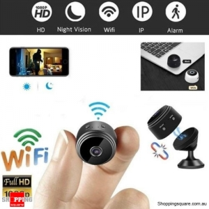 Mini Spy IP Camera Wireless WiFi HD 1080P Hidden Network Monitor Security Cam Black Colour