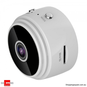 Mini Spy IP Camera Wireless WiFi HD 1080P Hidden Network Monitor Security Cam White Colour