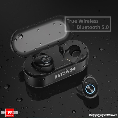 True Wireless Bluetooth 5.0 Headphone Hi-Fi Stereo Sound Bilateral Calls Earphone with Charging Box