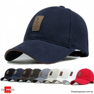 Cotton Blend Baseball Cap Hip-hop Adjustable Hat - Dark Blue
