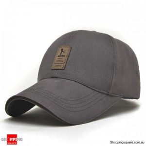 Cotton Blend Baseball Cap Hip-hop Adjustable Hat - Gray