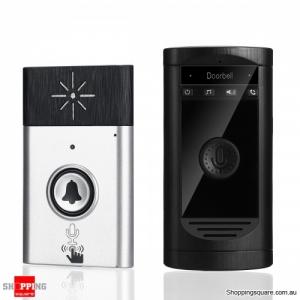 Wireless Doorbell Two-way Intercom Inter-phone 200m Distance LED Indicator Doorbell - Silver